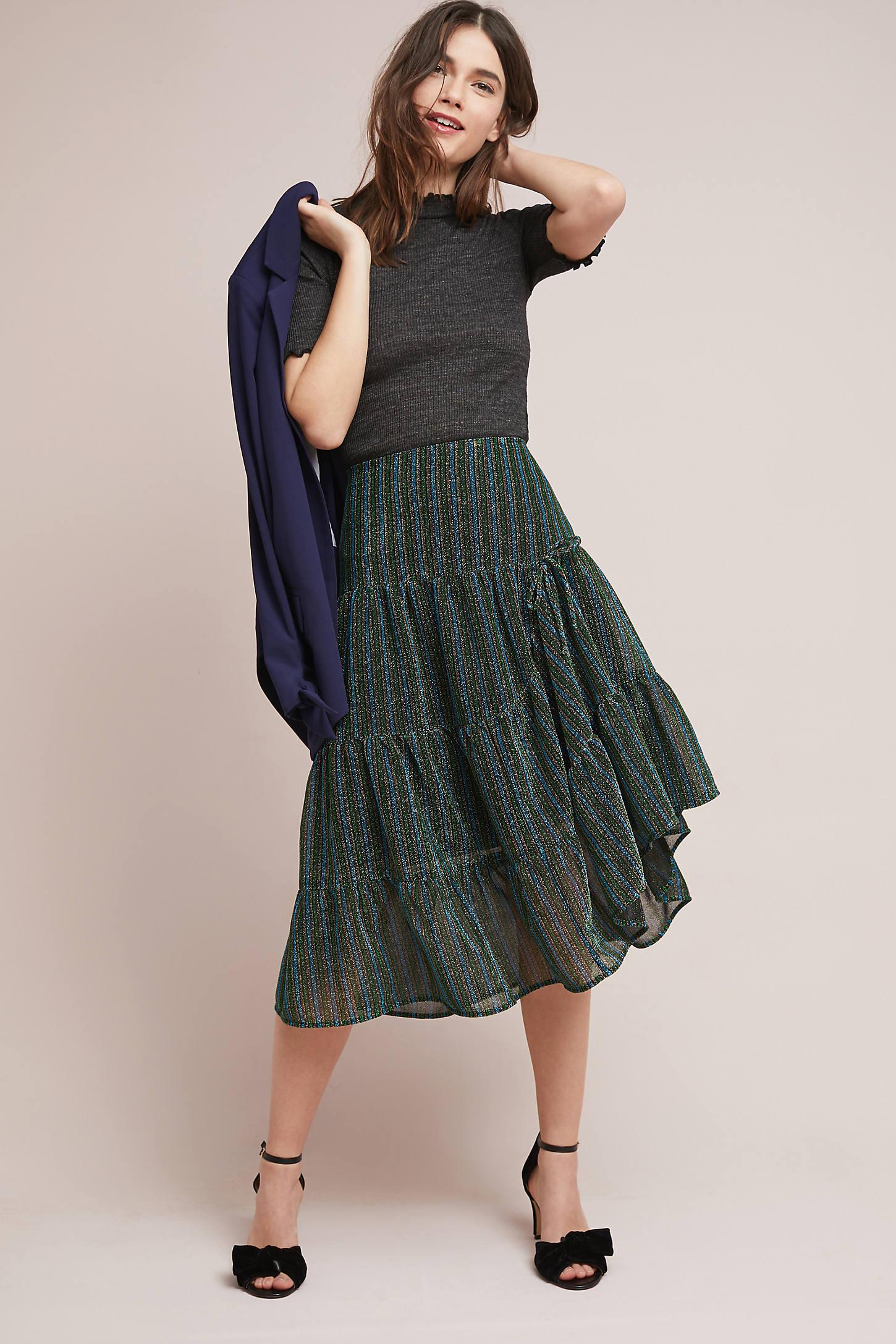 Holly Metallic Skirt