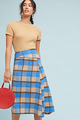 Slide View: 2: Islay Plaid Skirt