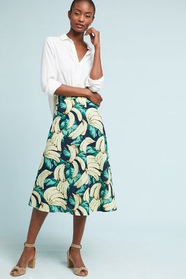 Banana Midi Skirt by Eva Franco