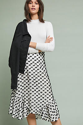 Slide View: 1: Mod Textured Skirt