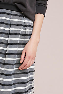 Slide View: 3: Striped Tulle Skirt