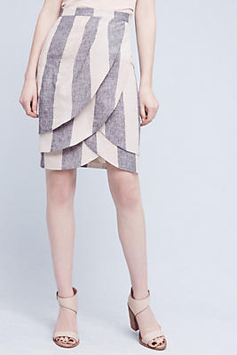 Slide View: 2: Linen Tulip Skirt