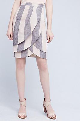 Slide View: 2: Linen Tulip Skirt