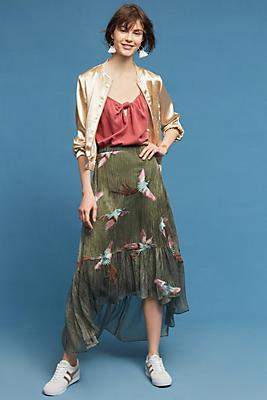 Slide View: 1: Oiseau Embroidered Skirt