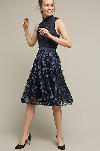 Blue Buttercup Midi Skirt