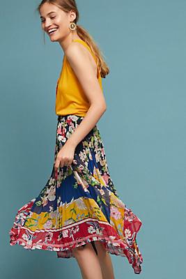 Slide View: 1: Leora Floral Skirt