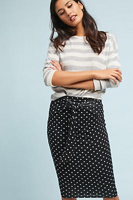 Slide View: 1: Polka Pencil Skirt
