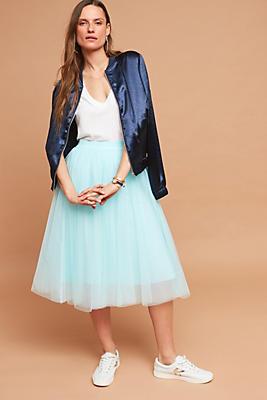 Slide View: 1: Tulle Midi Skirt