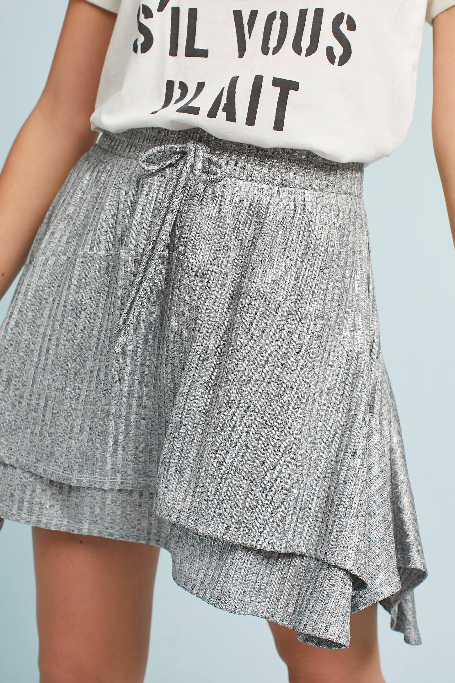 Silver Shimmer Skirt
