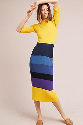 Slide View: 2: Mara Hoffman Striped Pencil Skirt