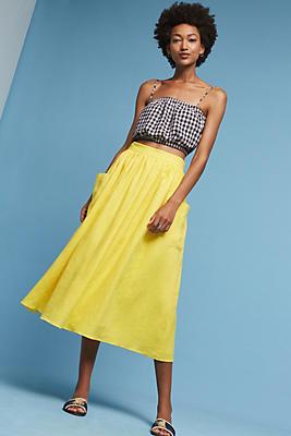 Slide View: 1: Patch Pocket Midi Skirt