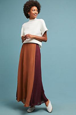 Slide View: 1: Colorblock Maxi Skirt