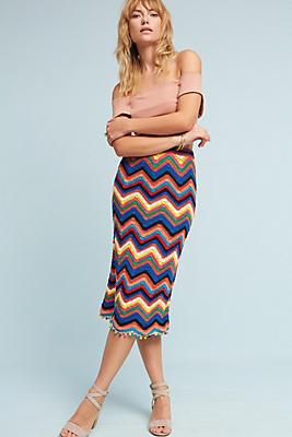 Slide View: 1: Chevron Knit Skirt