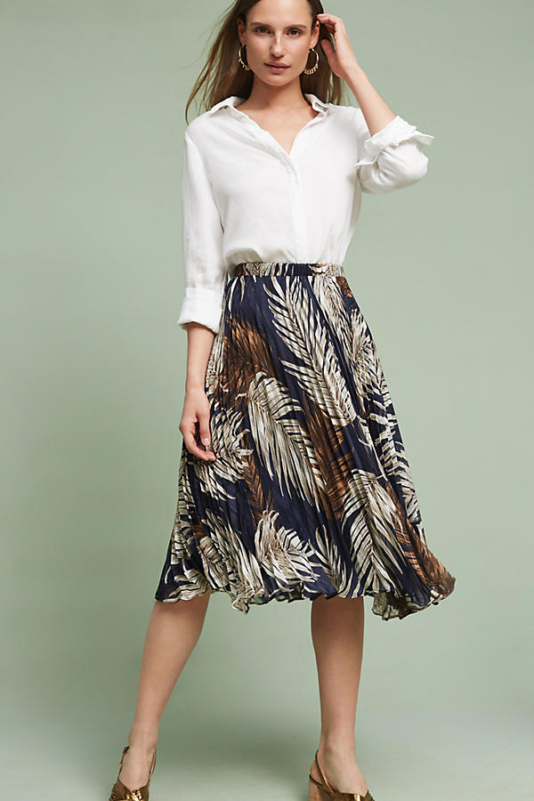 Slide View: 2: Pleated Palms Skirt