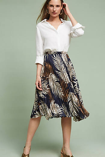 Pleated Palms Skirt