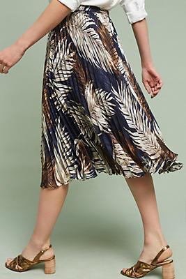 Slide View: 4: Pleated Palms Skirt
