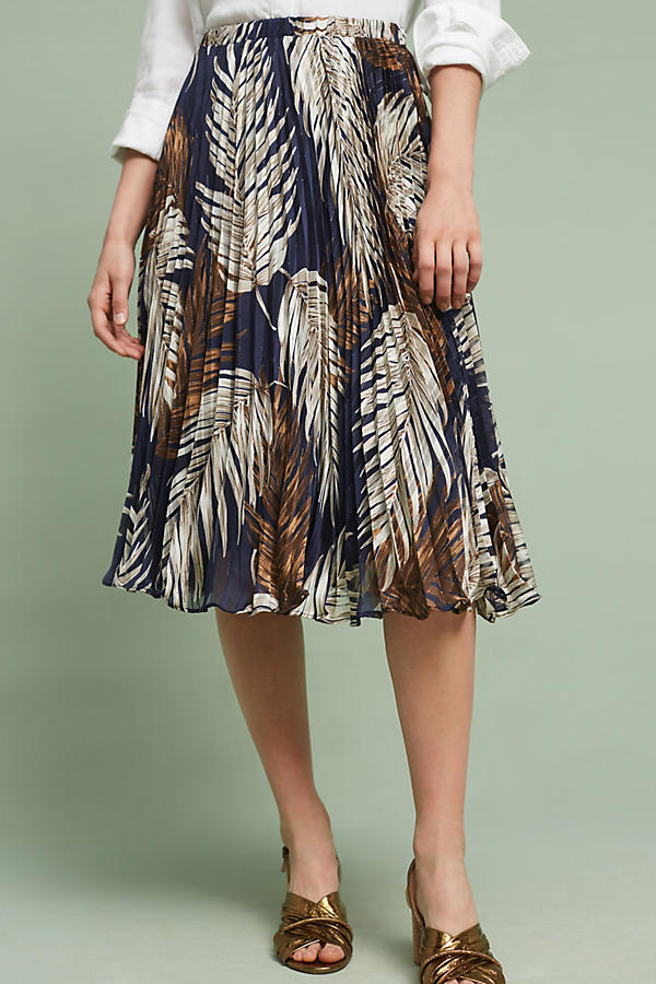 Slide View: 1: Pleated Palms Skirt
