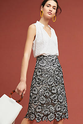 Slide View: 1: Nova Lace Pencil Skirt