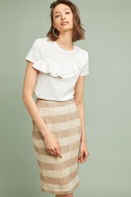 Naomi Striped Pencil Skirt by Sunday In Brooklyn