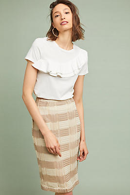 Slide View: 1: Naomi Striped Pencil Skirt
