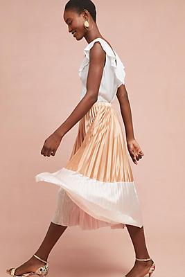 Slide View: 1: Cheri Pleated Skirt