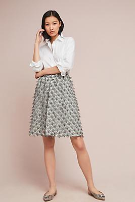 Slide View: 1: Textured Shine Skirt
