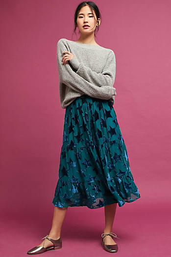 Starry-Eyed Velvet Burnout Skirt