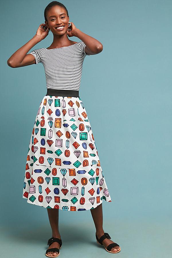 Gemstone Midi Skirt - Assorted, Size S