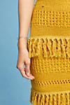 Thumbnail View 3: Enza Tiered Fringe Pencil Skirt, Yellow