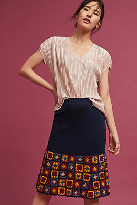 Slide View: 1: Square Knit Skirt