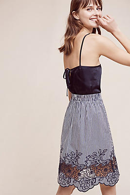 Slide View: 1: Laced Blooms Skirt