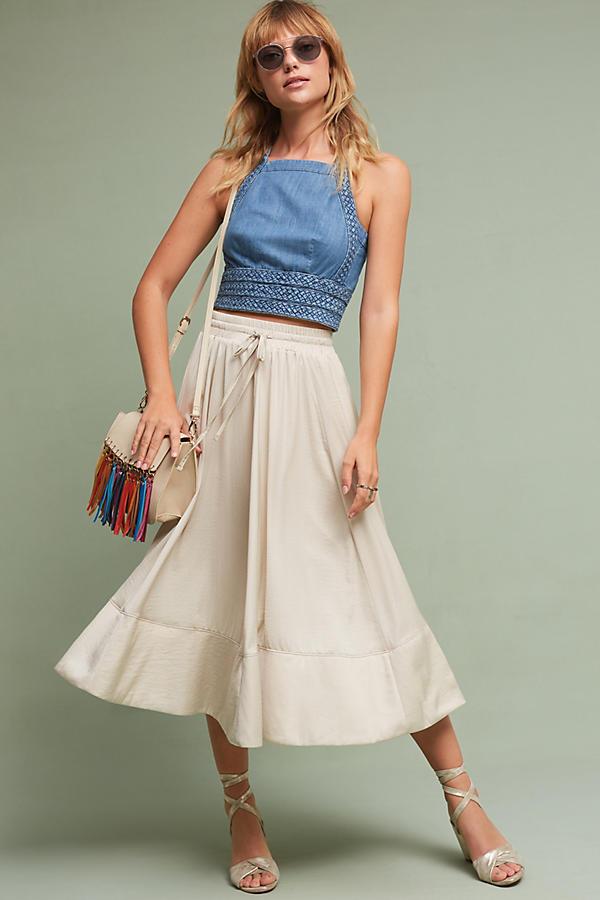 Slide View: 1: Nora Tie-Waist Skirt