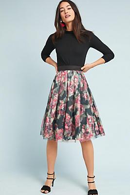 Slide View: 1: Dancer Tulle Skirt