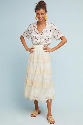 Slide View: 1: Pomona Embroidered Skirt