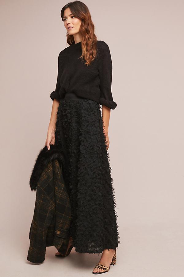 Rive Droite Maxi Skirt - Black, Size S