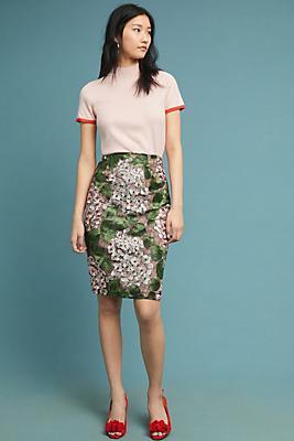 Slide View: 1: Cherry Blossom Pencil Skirt