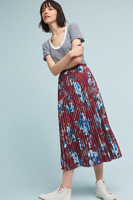 Slide View: 2: Floracion Pleated Skirt