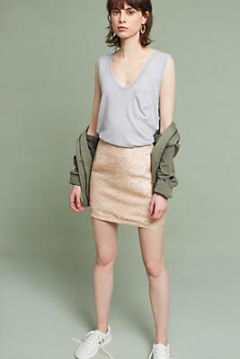 Slide View: 2: Jacquard Mini Skirt