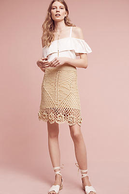 Slide View: 1: Claire Crocheted Skirt