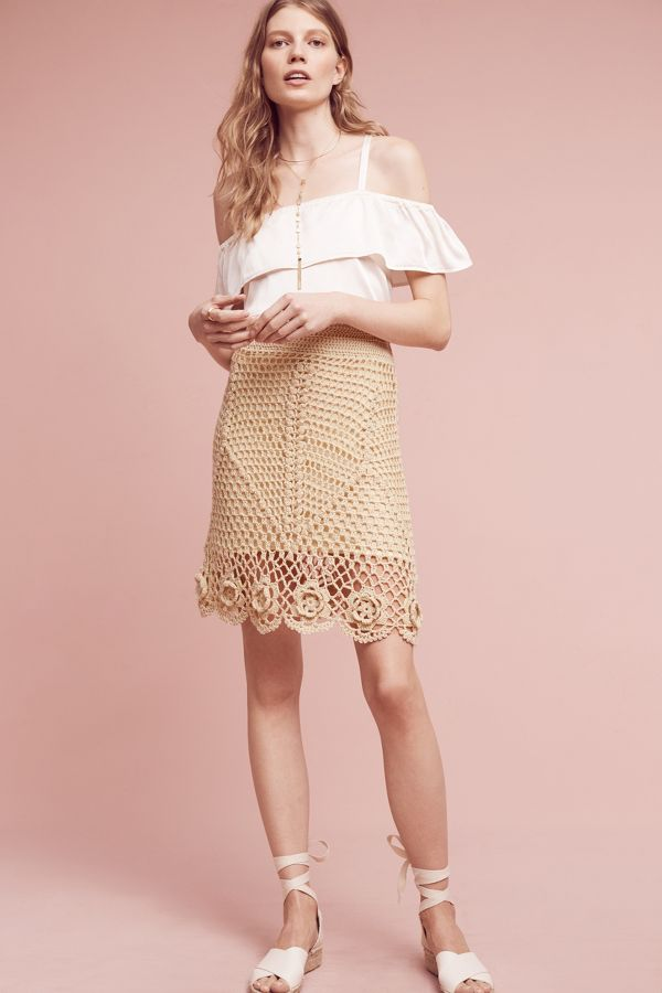 Maeve Claire Crocheted Skirt