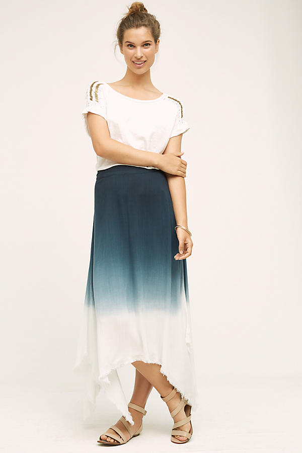 Dipped Horizon Maxi Skirt