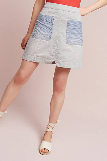 Pilcro Patch Denim Mini Skirt