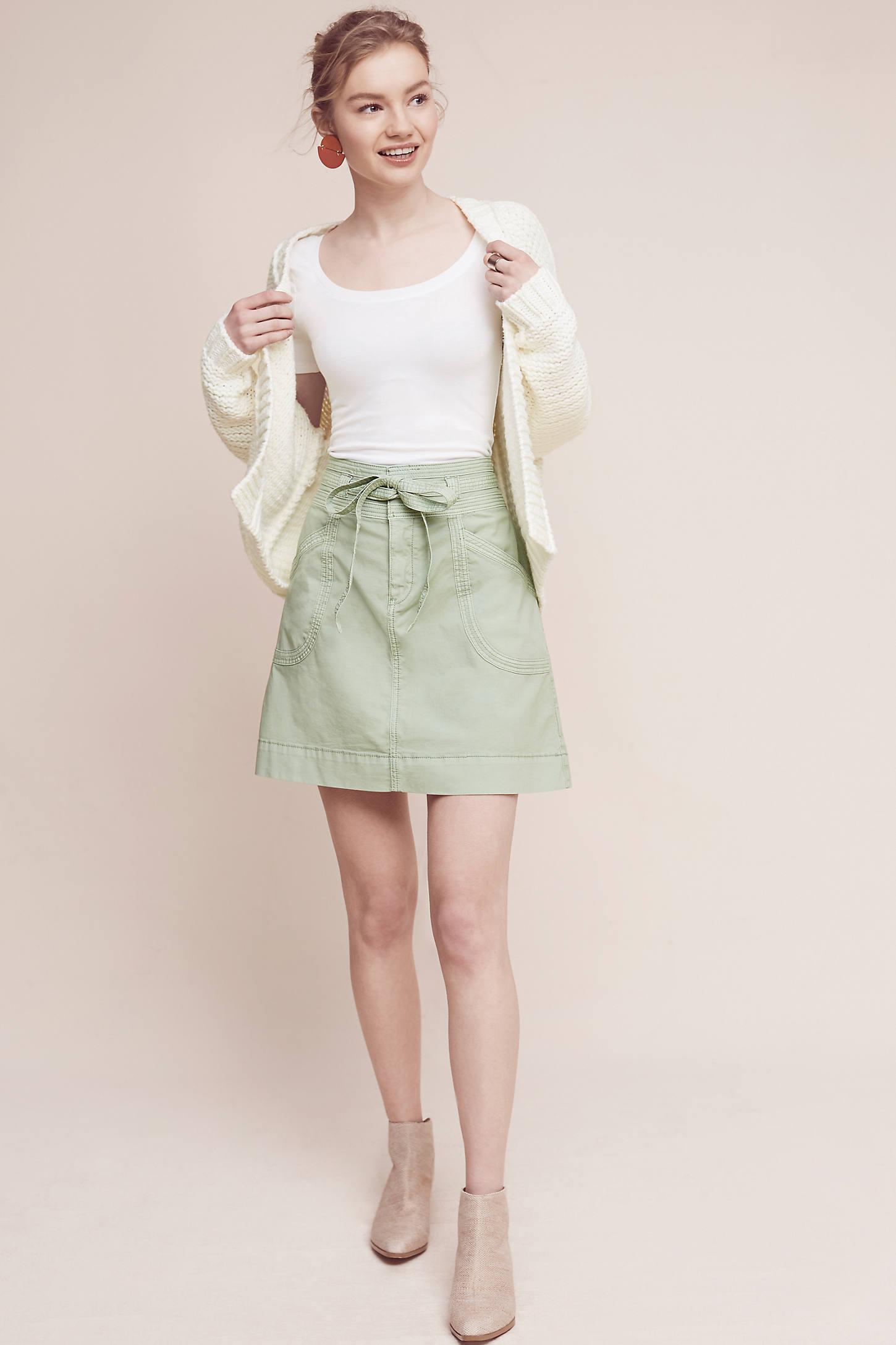 Pilcro Washed Chino Skirt