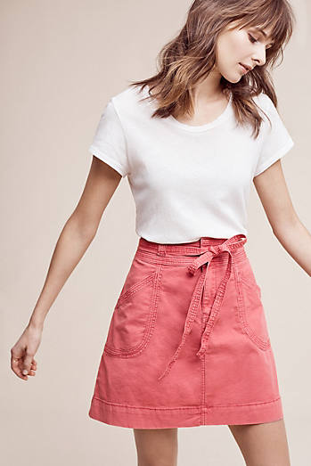 Pilcro Washed Chino Skirt