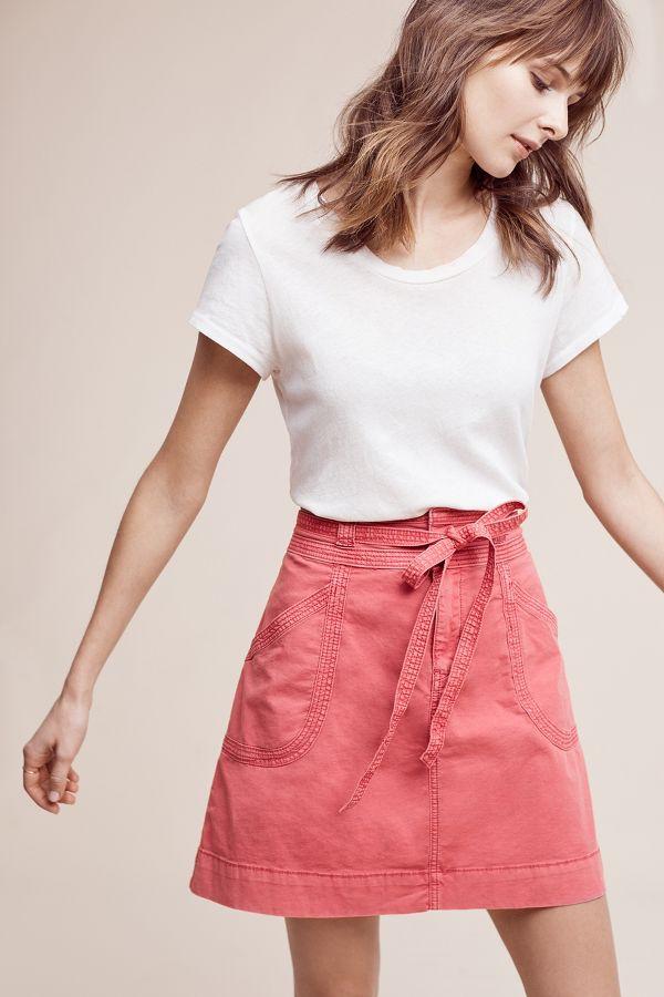 Pilcro Pilcro Washed Chino Skirt