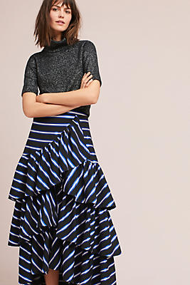 Slide View: 1: Iris Striped Skirt