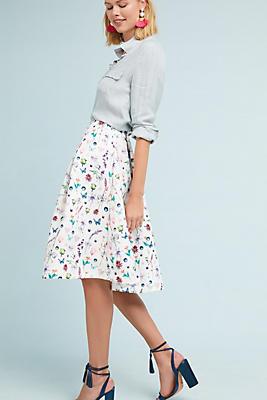Slide View: 1: French Botanical Skirt