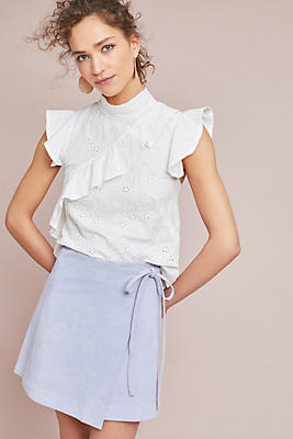 Slide View: 1: Holly Suede Skirt