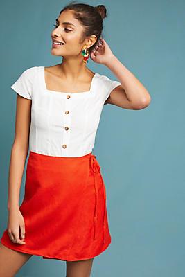 Slide View: 1: Holly Mini Wrap Skirt