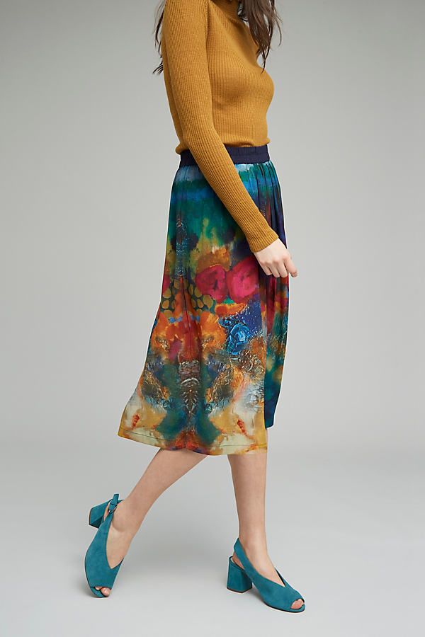 Cara Floral Midi Skirt - A/s, Size S